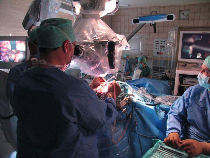 Snapshot from a brain surgery
