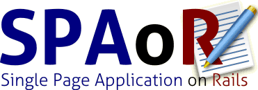 Logo of the project Single Page Application on Rails that will be released soon.
